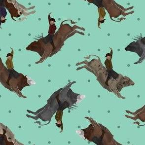 Bull Riders  - Teal