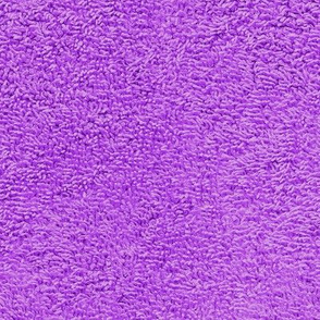 faux terry cloth towel in mad purple