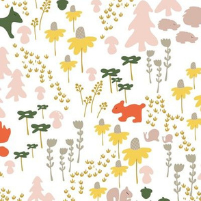 Whimsical woodland in white