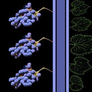 riverbank grapes - BORDER PRINT