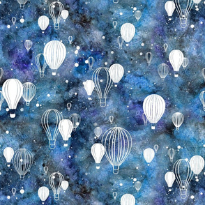 Sky's the Limit: Hot Air Balloons on Night Sky