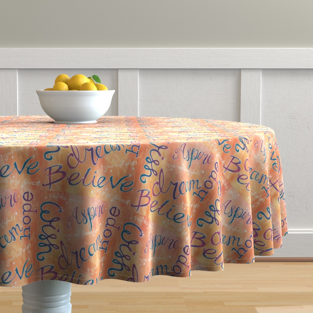 Malay Round Tablecloth featuring Hopes_and_Dreams by liliflorapretty