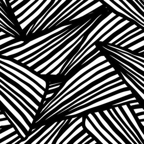 Graphic freehand black and white dynamic abstraction