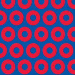 Phish circles- blue red