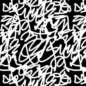 scribble white