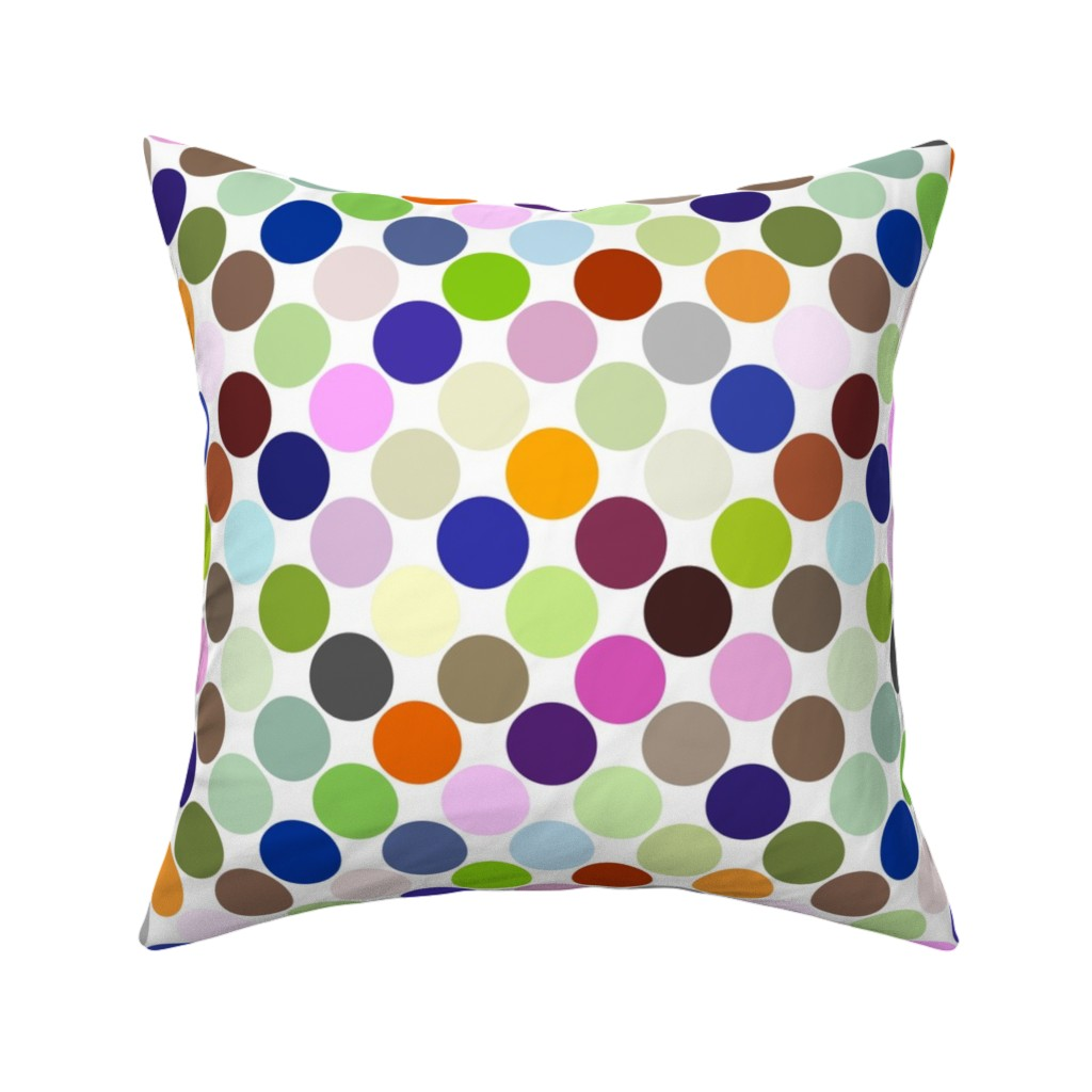 Catalan Throw Pillow featuring Party Dots Large - Diagonal by zuzana_licko