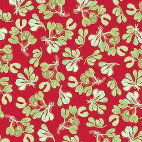 Tinsel Nouveau: Mistletoe Red