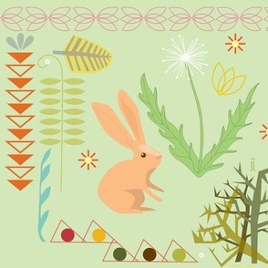 rabbit on the green