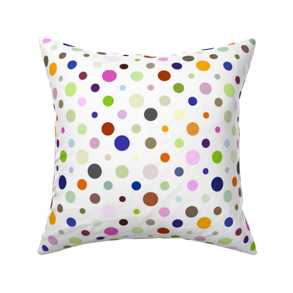 Catalan Throw Pillow featuring Party Dots Random by zuzana_licko