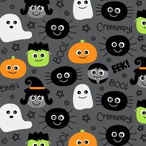 halloween cuties on dark grey