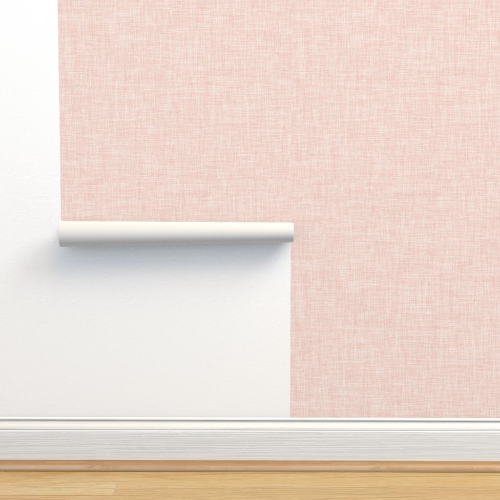 Isobar Durable Wallpaper featuring Linen Solid // Pale Pink by ivieclothco