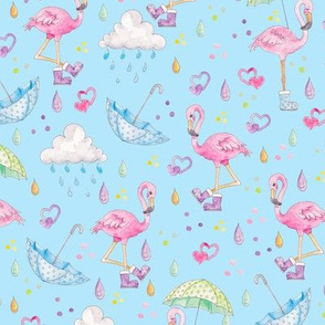 Rainy Flamingo