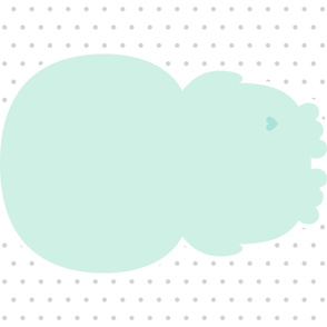 penguin mint back mod baby » plush + pillows // one yard