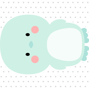 penguin mint front mod baby » plush + pillows // one yard