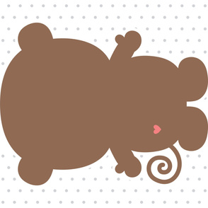 monkey brown back mod baby » plush + pillows // one yard