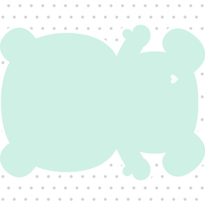 bear mint back mod baby » plush + pillows // one yard