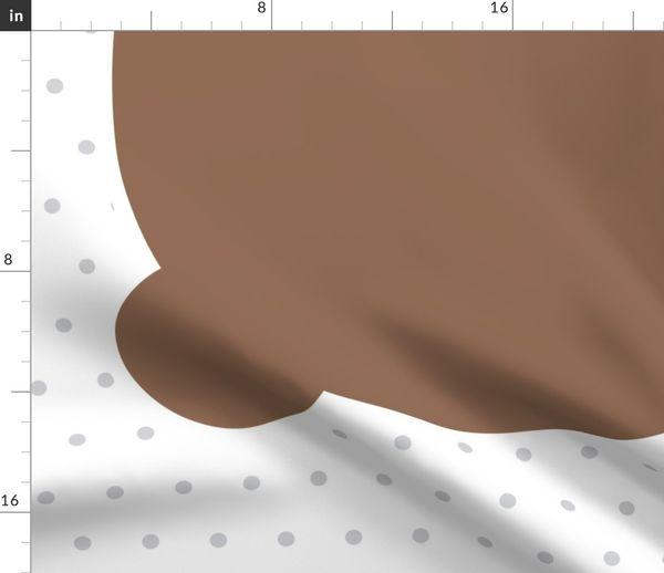 Fabric By The Yard Bear Brown Back Mod Baby Plush Pillows One Yard