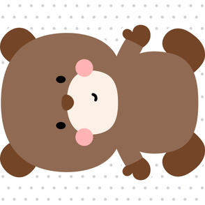 bear brown front mod baby » plush + pillows // one yard
