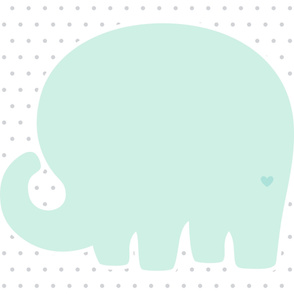 elephant mint back mod baby » plush + pillows // one yard