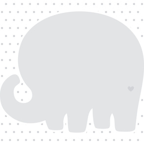 elephant grey back mod baby » plush + pillows // one yard