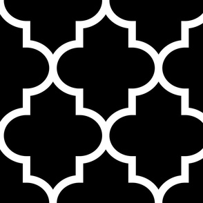 quatrefoil XL black