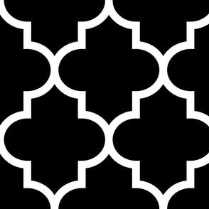 quatrefoil XL black