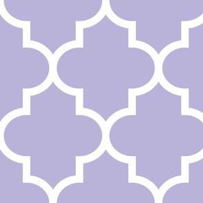 quatrefoil XL light purple
