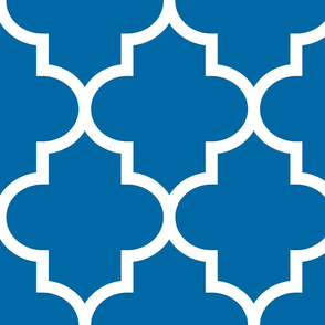 quatrefoil XL royal blue