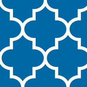 quatrefoil XL royal blue