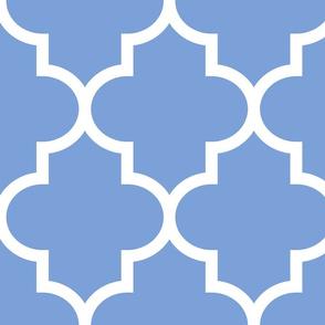 quatrefoil XL cornflower blue