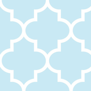 quatrefoil XL ice blue