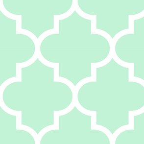 quatrefoil XL ice mint green