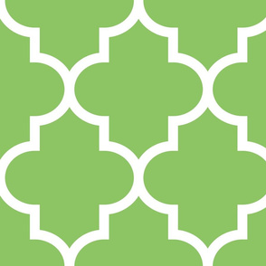 quatrefoil XL apple green