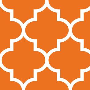 quatrefoil XL orange