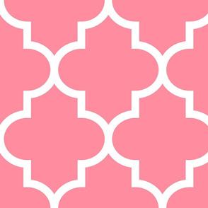 quatrefoil XL pretty pink