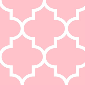 quatrefoil XL light pink
