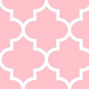 quatrefoil XL light pink