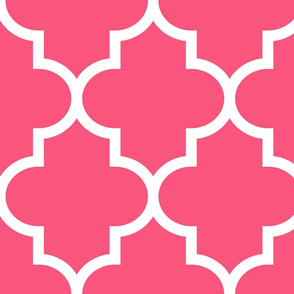 quatrefoil XL hot pink