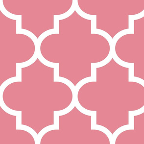 quatrefoil XL berry cream