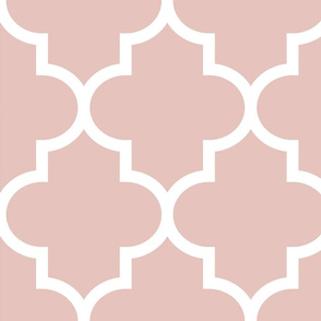 quatrefoil XL dusty pink