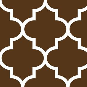 quatrefoil XL brown