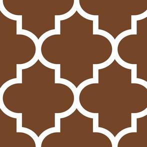 quatrefoil XL chocolate brown