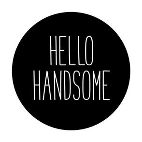 hello handsome black mod baby » plush + pillows // fat quarter