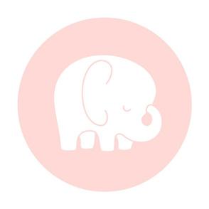 sleepy elephant coral light mod baby » plush + pillows // fat quarter