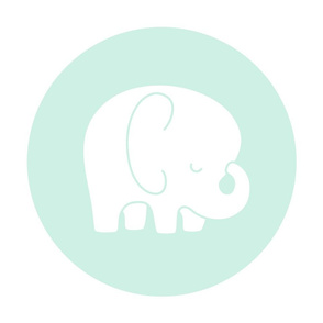 sleepy elephant mint light mod baby » plush + pillows // fat quarter