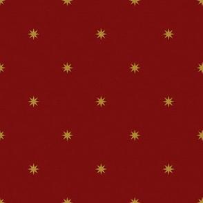 Medieval Stars ~ Gold on Claret
