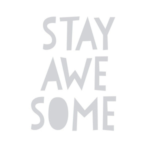stay awesome grey mod baby » plush + pillows // fat quarter