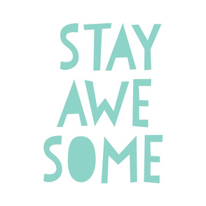 stay awesome mint mod baby » plush + pillows // fat quarter