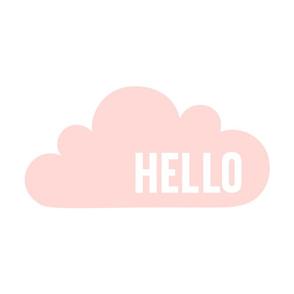 hello cloud coral light mod baby » plush + pillows // fat quarter