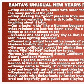 Santa's New Years Resolutions
